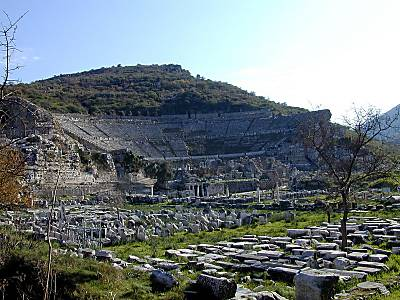 Ephesus theater from west
