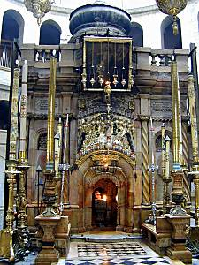 Church of Holy Sepulcher edicule, place of  Jesus' burial