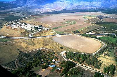 Hazor aerial from southeast