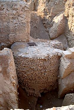 Neolithic tower discovered and excavated by Kathleen Kenyon in Trench I ... The tower was built and destroyed in Pre-Pottery Neolithic A which Kenyon dated to 8000 - 7000 BC (Bible Places)