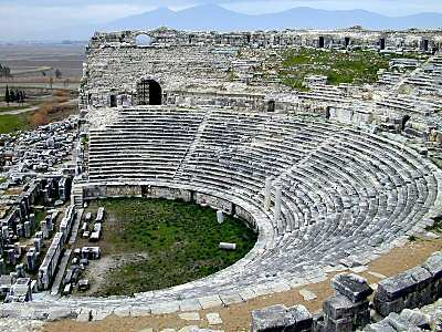 Miletus theater from above