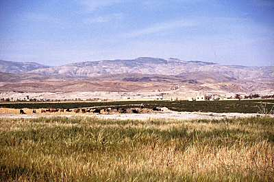 Plains of Moab with Mount Nebo in back (Bible Places)