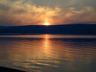 Dusk over the Sea of Galilee