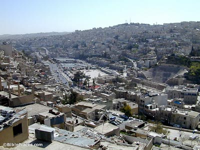 Amman downtown from acropolis