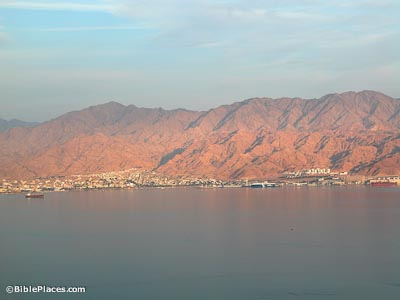 Aqaba and Red Sea from Eilat