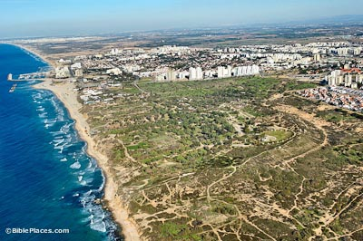 Ashkelon aerial from south