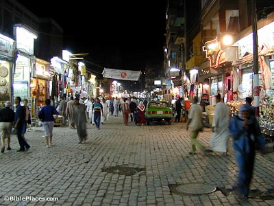 Aswan market at night
