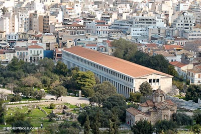 Athens Stoa of Attalos reconstructed