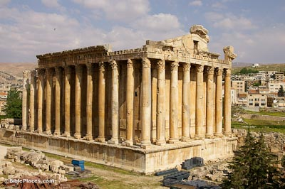 Baalbek, Bacchus Temple from Jupiter Temple