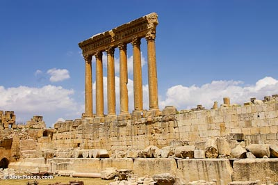 Baalbek, Jupiter Temple from Bacchus Temple