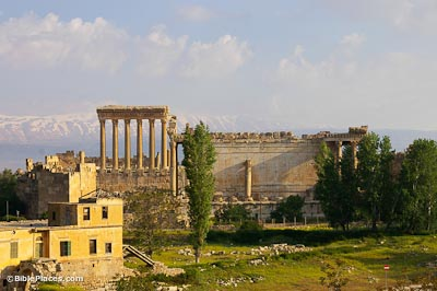 Baalbek, Jupiter and Bacchus Temples from Palmyra