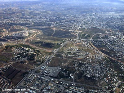 Bethlehem aerial from the north