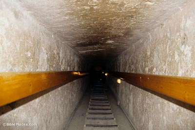 Interior passageway of Chefren's pyramid