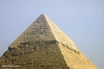 Closeup of outer casing of Chefren's pyramid
