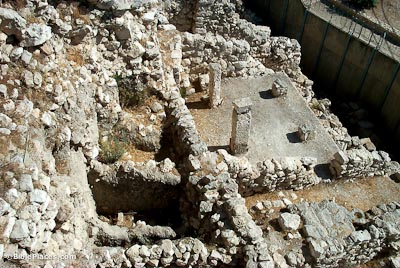 House of Ahiel in Area G of the City of David