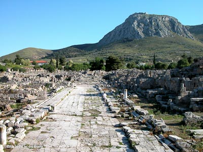 Corinth Lechaion Road from north