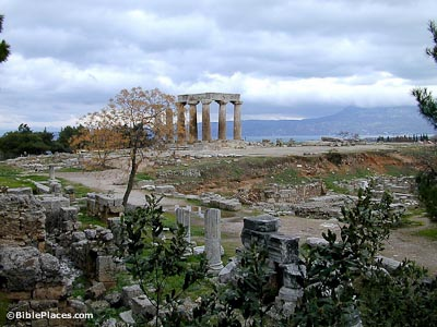 Corinth Temple of Apollo and excavations