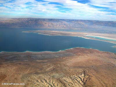Dead Sea lisan aerial from west