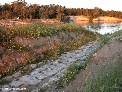 Corinth Area With Cenchrea Harbor And Canal Bibleplaces Com