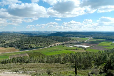 Elah Valley from Azekah