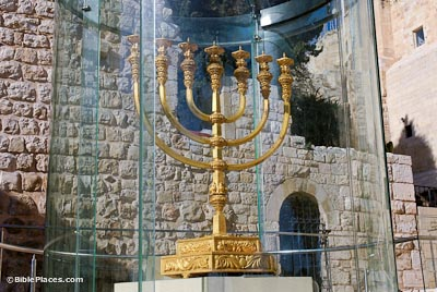 Temple menorah in Jewish Quarter