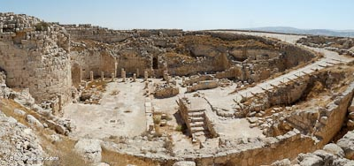 Herodium interior from north