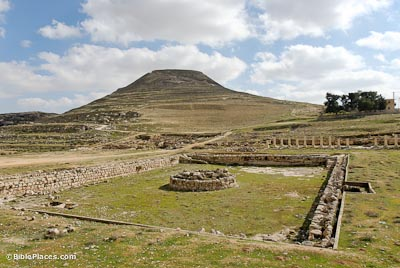 Herodium with lower pool