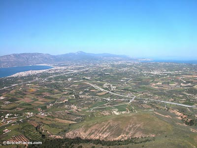 Isthmus from Acrocorinth