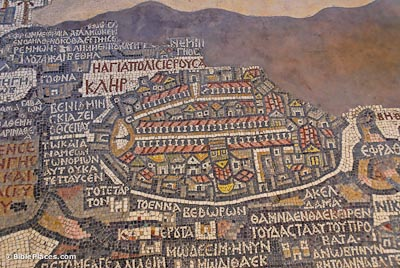 Jerusalem on the Medeba Map