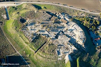 Megiddo aerial from southeast