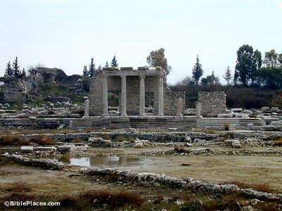 Miletus agora with public building