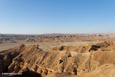 Nahal Paran and wilderness from south