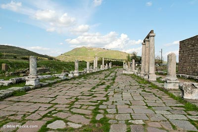 Pergamum Sacred Way with acropolis
