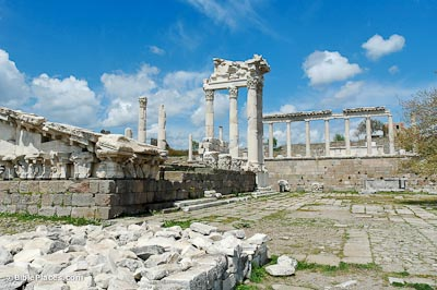 Pergamum Trajan Temple with facade