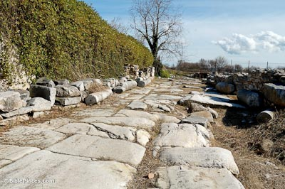 Via Egnatia next to Philippi forum from east