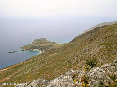 Phoenix, Cape Mouros and Loutro from northeast