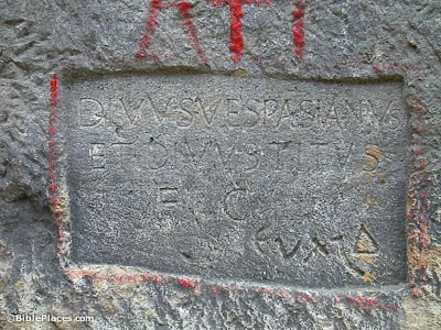 Vespasian inscription in Titus canal, Seleucia