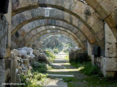 Smyrna agora first level arches