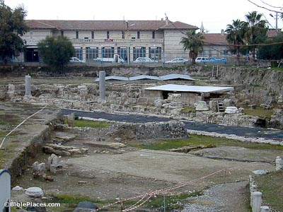 Tarsus city street and excavations