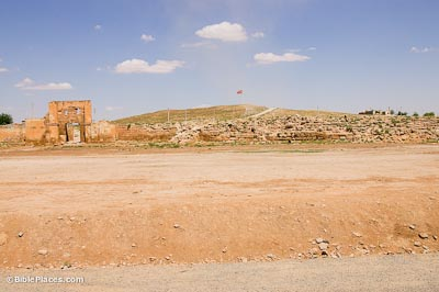 Tell Haran and Aleppo Gate from west