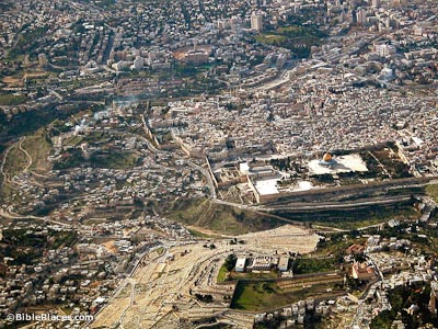 City of David aerial from east