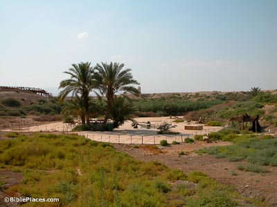 Wadi Gharrar with baptismal area