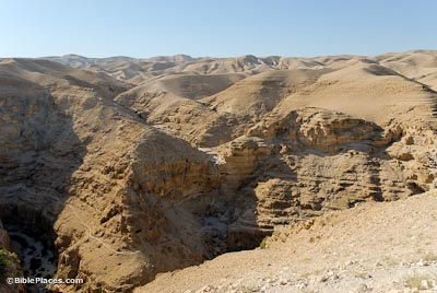 Wadi Qilt from south