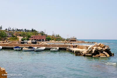 Zarephath, Phoenician harbor and tell from east