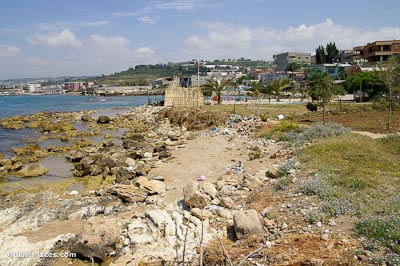 Zarephath, Phoenician harbor from northwest