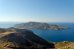 Patmos view of island from Mount Elijah