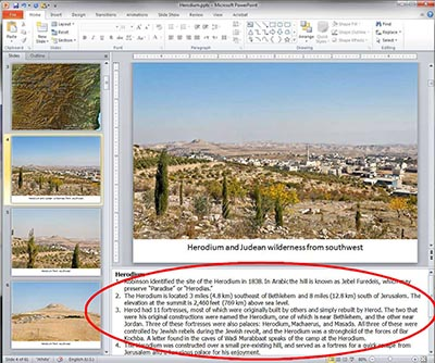 PowerPoint annotations