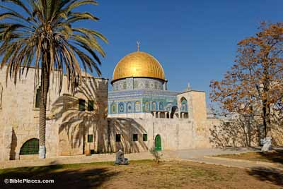 Dome of the Rock from southwest, tb122006949