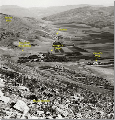 Looking north from Mount Gerizim, mat05142 locations