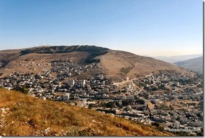 Mt Ebal and Shechem from Mt Gerizim, tb070507676